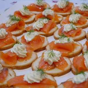 Toast saumon aneth