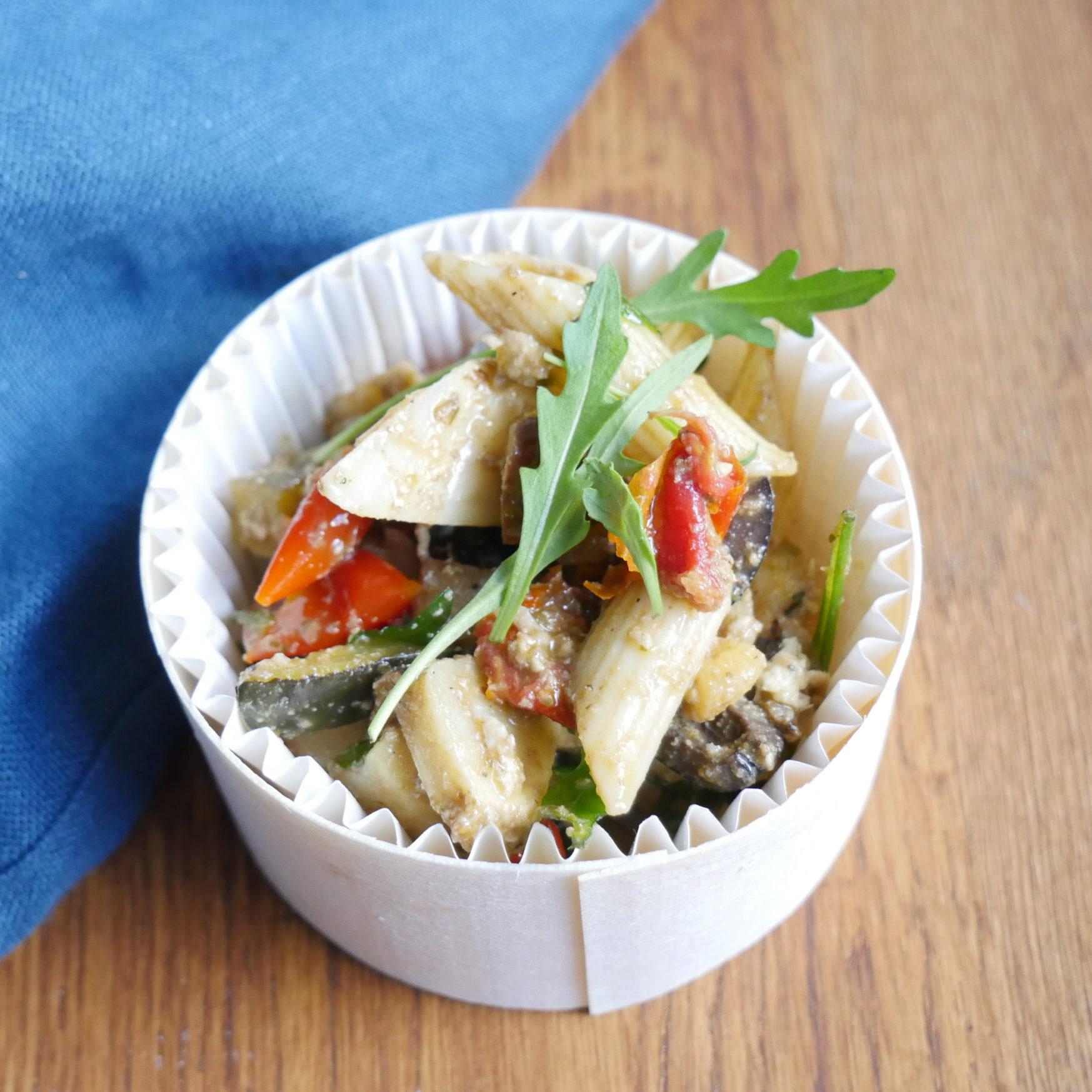Salade de pâtes et antipasti