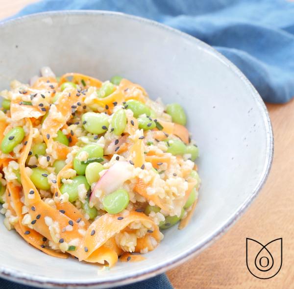 salade edamame carottes boulgour