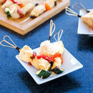 Brochette poulet tandoori et légumes de saison
