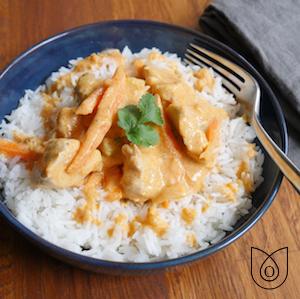 Filet de poulet au curry thaï